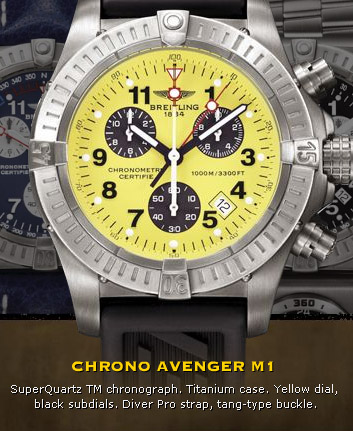 Breitling Chrono Avenger M1 - in yellow