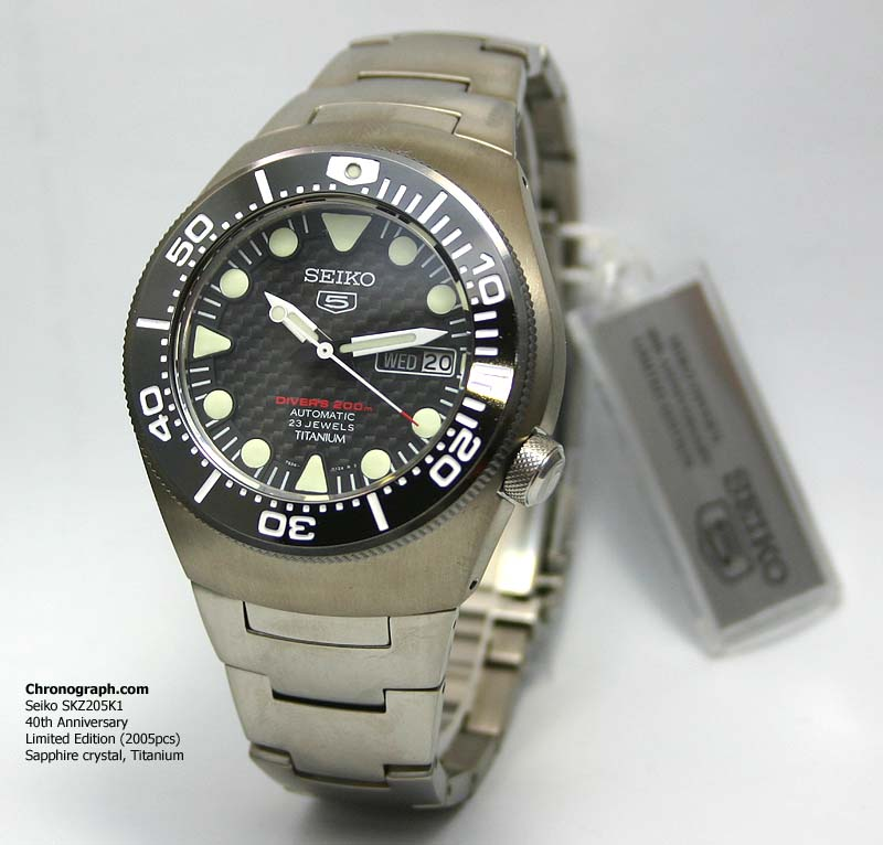 e820da74789 Seiko 5 Diver s 200 Automatic Caliber  7S36 ( 23 Jewels ) Case width 44mm.  Case thickness  13mm